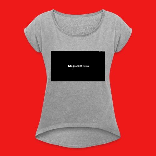 New - Dame T-shirt med rulleærmer