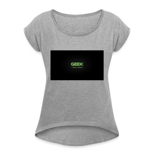 geek_binary_life_style - Camiseta con manga enrollada mujer