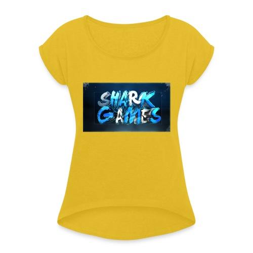 SharkGames - Maglietta da donna con risvolti