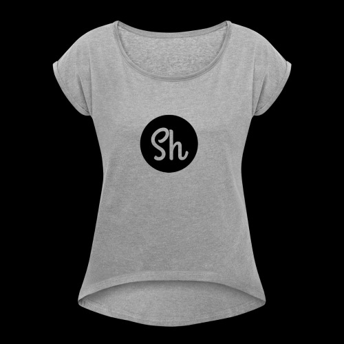 LOGO 2 - Women's T-Shirt with rolled up sleeves