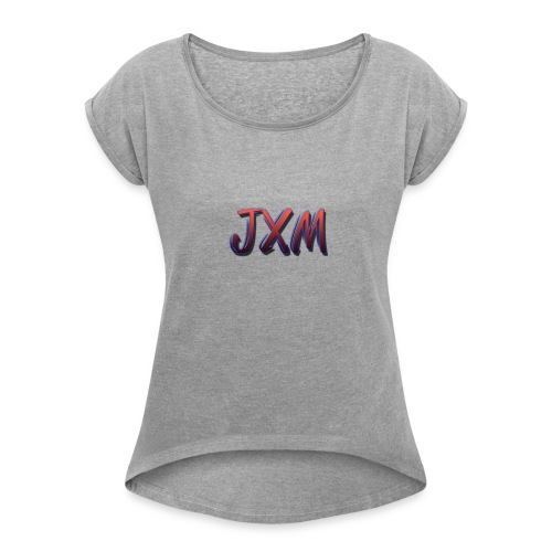 JXM Logo - Women's T-Shirt with rolled up sleeves