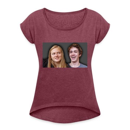 Profil billede beska ret - Dame T-shirt med rulleærmer