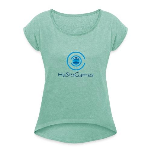 HasloGames Producten officieel logo - Vrouwen T-shirt met opgerolde mouwen