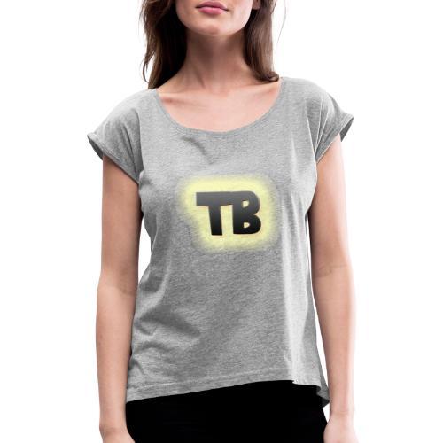 thibaut bruyneel kledij - Vrouwen T-shirt met opgerolde mouwen