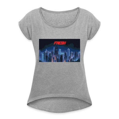 Fresh - T-shirt à manches retroussées Femme