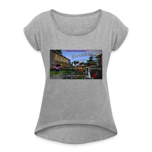 JA TAK S LOGO - Dame T-shirt med rulleærmer