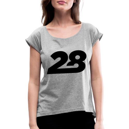 28 - Women's T-Shirt with rolled up sleeves