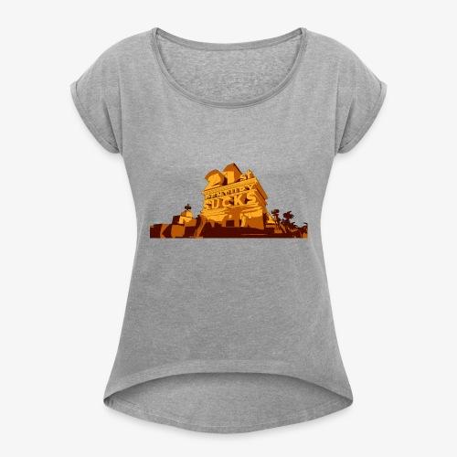 21st Century Sucks - Frauen T-Shirt mit gerollten Ärmeln
