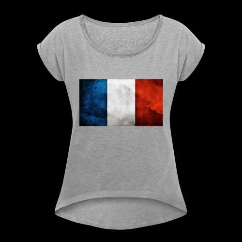DRAPEAU BLEU BLANC ROUGE - T-shirt à manches retroussées Femme