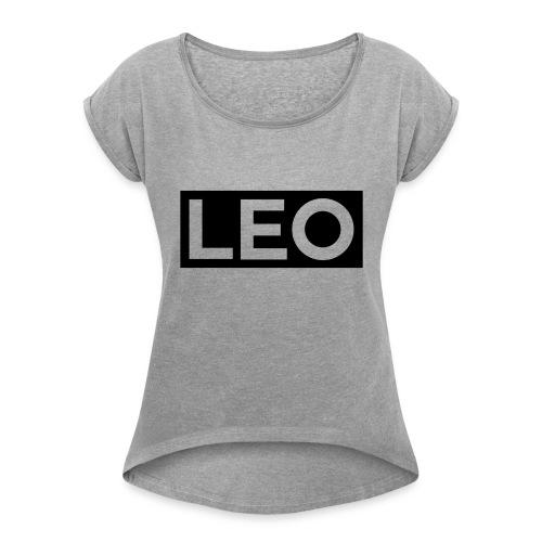 LEO - Dame T-shirt med rulleærmer