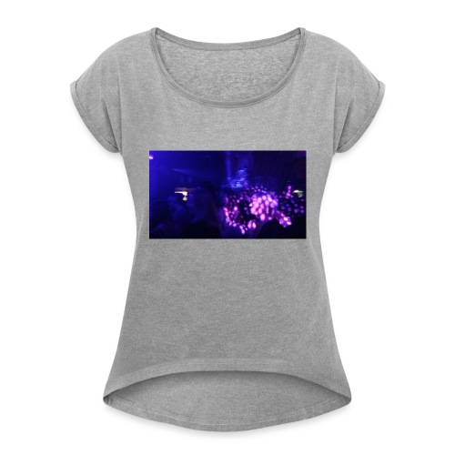 Music Time - Women's T-Shirt with rolled up sleeves