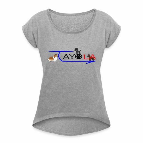 Tayola Black - T-shirt à manches retroussées Femme