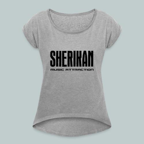 Sherikan - T-shirt med upprullade ärmar dam