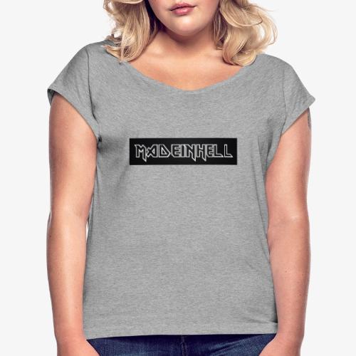 IRON MIH - Maglietta da donna con risvolti
