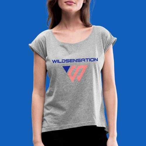 Logo Wildsensation - Frauen T-Shirt mit gerollten Ärmeln