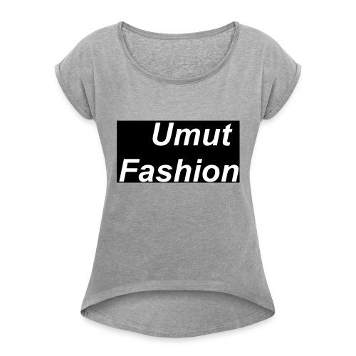 Umut Fashion - Frauen T-Shirt mit gerollten Ärmeln