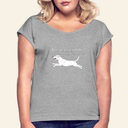 parsoniemanta - Naisten T-paita, jossa rullatut hihat