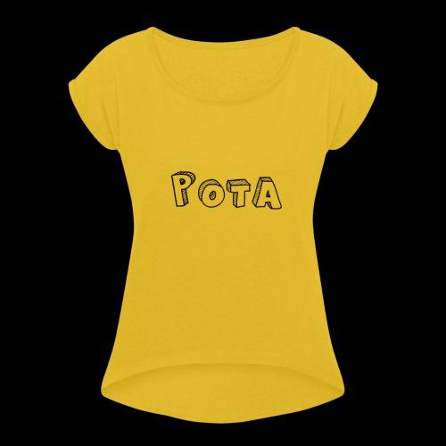 pota1 - Maglietta da donna con risvolti