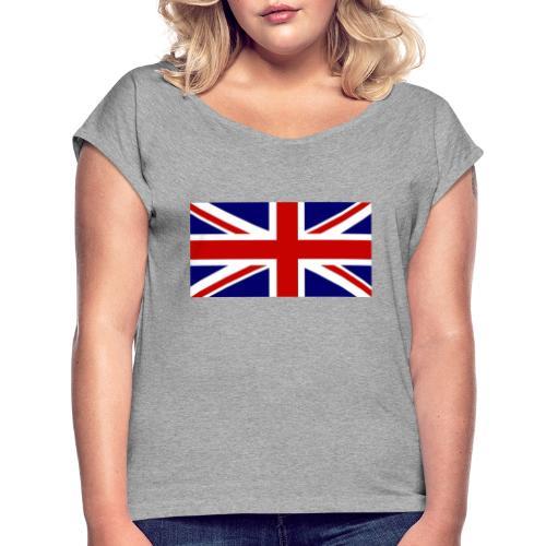 drapeau anglais - T-shirt à manches retroussées Femme