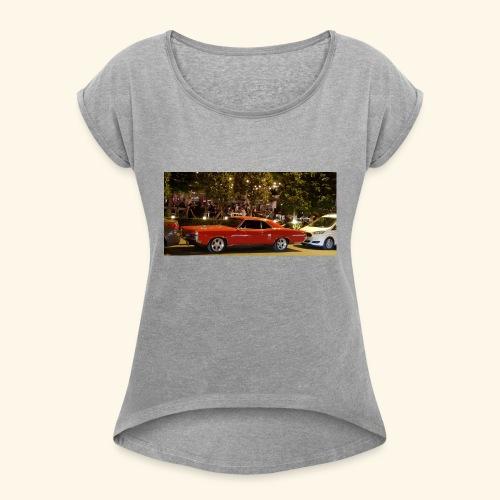 4EF8B5DD BFBA 4D8B B2E6 8A4F6FC55286 - Frauen T-Shirt mit gerollten Ärmeln
