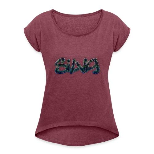 SilViG logo limited - Dame T-shirt med rulleærmer