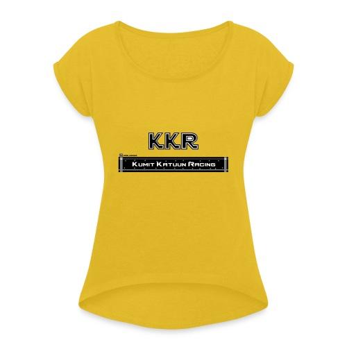 KumitKatuun - Naisten T-paita, jossa rullatut hihat