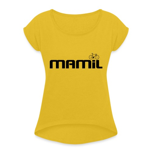 mamil1 - Women's T-Shirt with rolled up sleeves