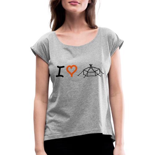 IloveJurte - Frauen T-Shirt mit gerollten Ärmeln