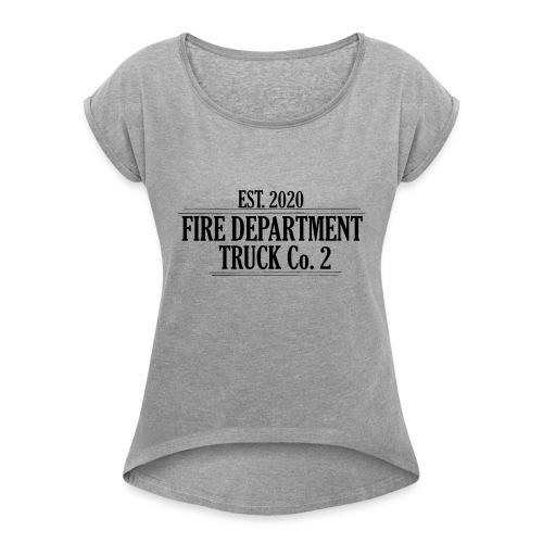 Truck Co.2 - BLACK - Dame T-shirt med rulleærmer