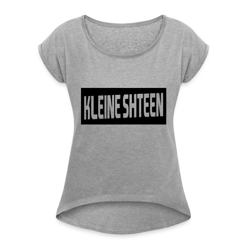 kleine shteen - Vrouwen T-shirt met opgerolde mouwen