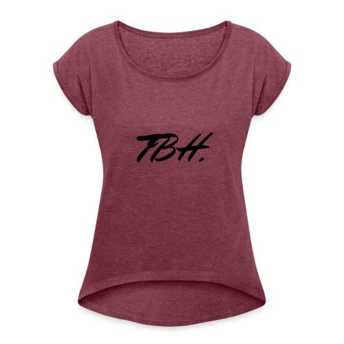 TBH - T-shirt à manches retroussées Femme