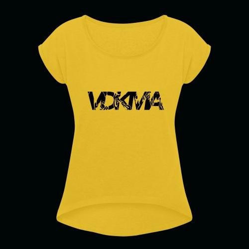 vdkma x 130 x spörts - Naisten T-paita, jossa rullatut hihat
