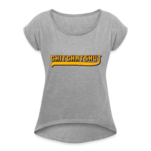 Logo - Women's T-Shirt with rolled up sleeves