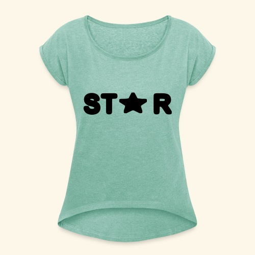 Star of Stars - Women's T-Shirt with rolled up sleeves