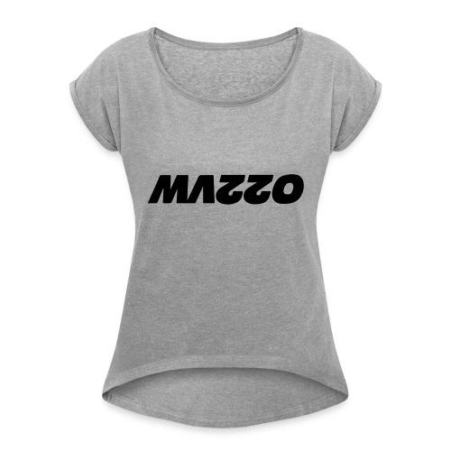 mazzo - Vrouwen T-shirt met opgerolde mouwen