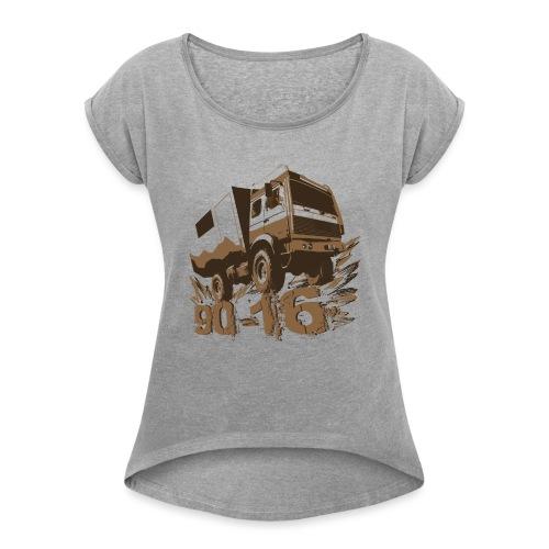 112178546 144619284 90 16 - Frauen T-Shirt mit gerollten Ärmeln