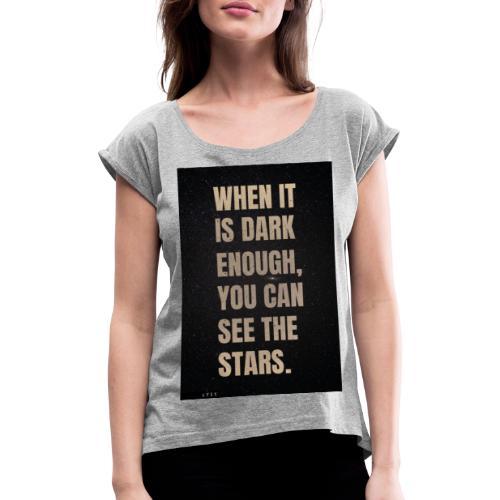 see the stars - Camiseta con manga enrollada mujer
