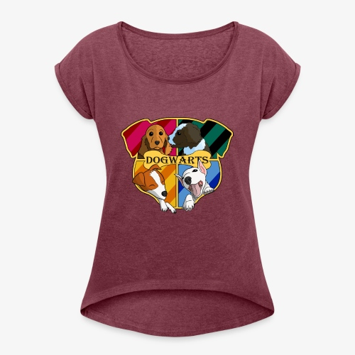 Dogwarts Logo - Women's T-Shirt with rolled up sleeves