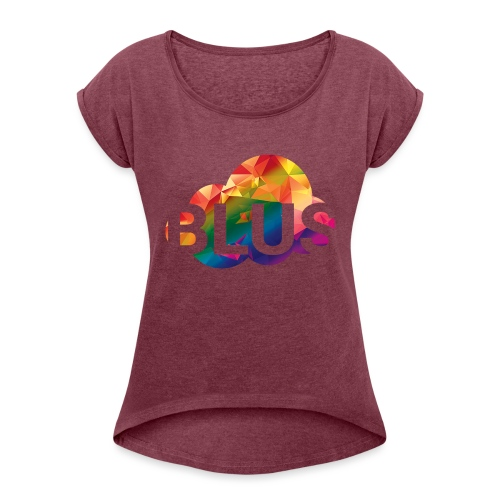 BURNER Logo - Women's T-Shirt with rolled up sleeves