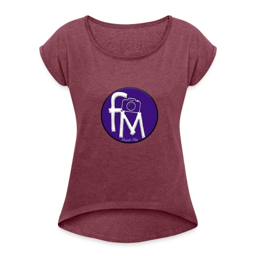 FM - Women's T-Shirt with rolled up sleeves