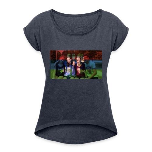 PV-Bike Trip Propaganda - Frauen T-Shirt mit gerollten Ärmeln