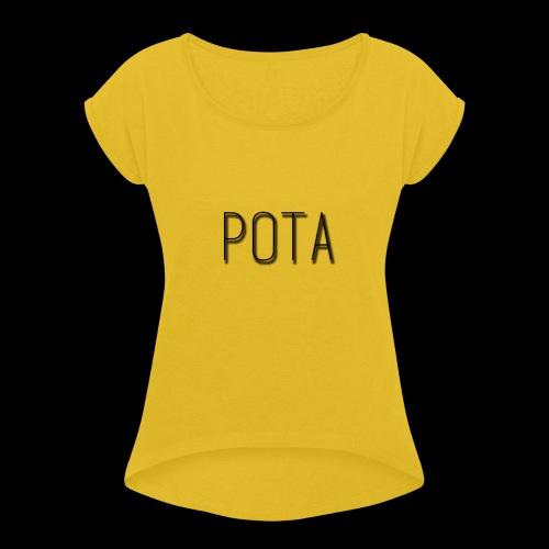 pota2 - Maglietta da donna con risvolti