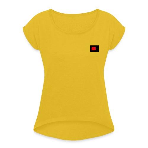 NFD-COOL/EDITION - Naisten T-paita, jossa rullatut hihat