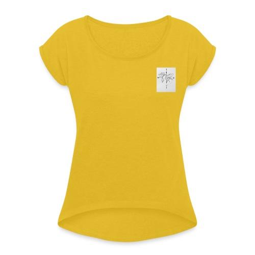 Wanderlust - Vrouwen T-shirt met opgerolde mouwen