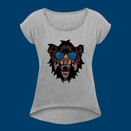 The Grizzly Beast - Women's T-Shirt with rolled up sleeves