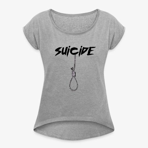 SUICIDE - Maglietta da donna con risvolti