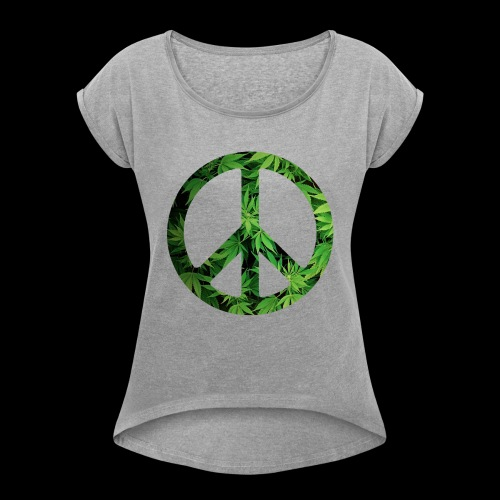 Cannapeace - Women's T-Shirt with rolled up sleeves