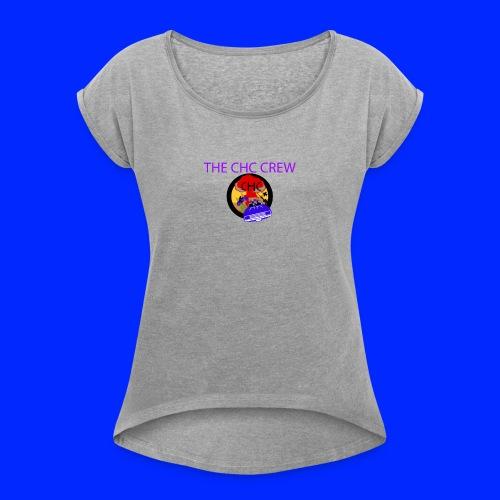THE CHC CREW - T-shirt med upprullade ärmar dam