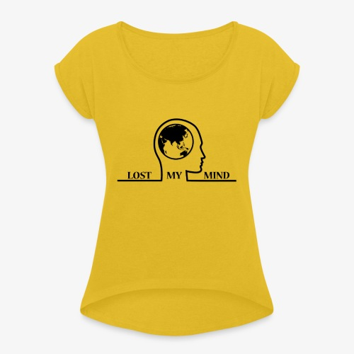 LOSTMYMIND - Women's T-Shirt with rolled up sleeves