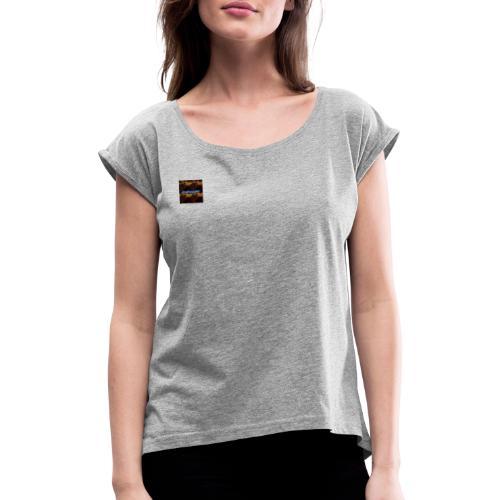 CraftingMC Complete Edition - Frauen T-Shirt mit gerollten Ärmeln